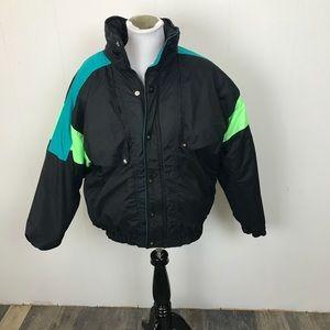 Vintage 90s Black Winter Coat Skiing Coat